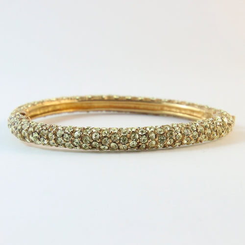 Ciner NY Jonquil Crystal Encrusted Clamper Bangle