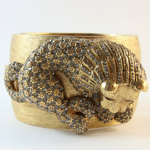 Ciner NY Statement Brushed Gold Lion Body Cuff