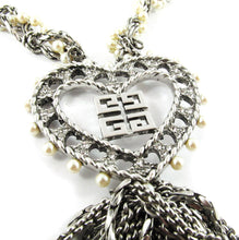 Load image into Gallery viewer, Vintage Signed 'Givenchy Paris' 1970's Silver Tone Logo Necklace