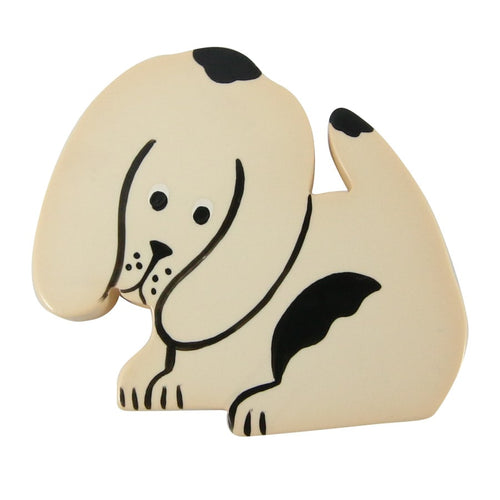 Marie Christine Pavone Dog Brooch