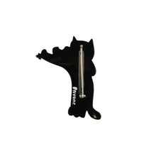Load image into Gallery viewer, Pavone Signed Black Cat Violinist Brooch Pin