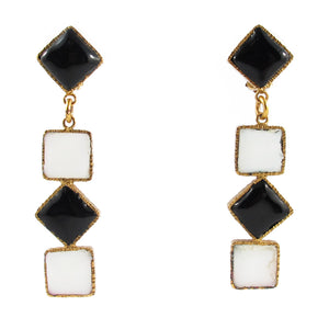 Pate-de-verre Drop Earrings