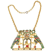 Load image into Gallery viewer, RARE - Vintage Signed 'Polcini' Egyptian Motif Necklace - Originally owned by Ann Miller
