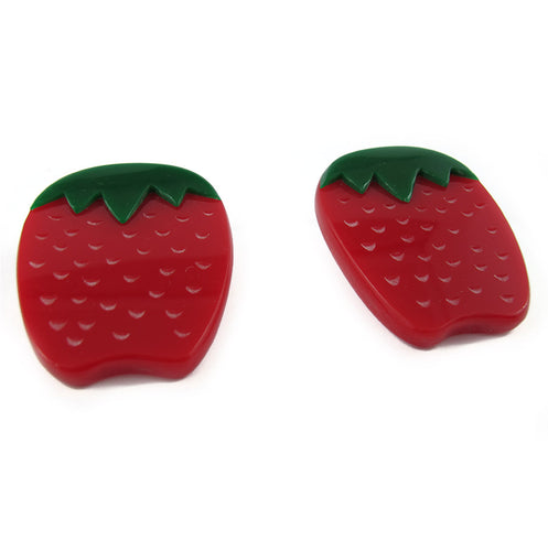 HQM Contemporary Acrylic Pop Art Strawberry Earrings