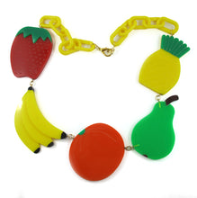 "Load image into Gallery viewer, Harlequin Market - HQM Acrylic ""Pop Art"" Multi Fruit Necklace"