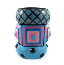 Load image into Gallery viewer, HQM Contemporary Signed 'Raffia & Bossa Paris' Spotted Cuff - Blue - Black