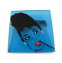 Load image into Gallery viewer, HQM - Signed 'C.D' Hand Painted 'Audrey Hepburn' Plastic Brooch