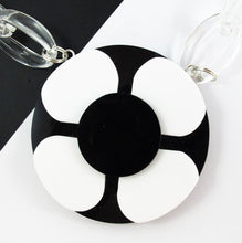 "Load image into Gallery viewer, Harlequin Market - HQM Acrylic ""Pop Art"" Monochrome Flower Necklace"
