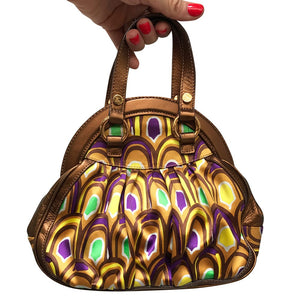 Emilio Pucci Vintage Silk - Leather Purse c. 1990