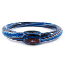 Load image into Gallery viewer, Lea Stein Vintage Jonc Swirl Bangle - Blue Maroon