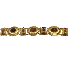 Load image into Gallery viewer, Unsigned Vintage Yellow Gold & Amber Tone Bracelet c.1980s