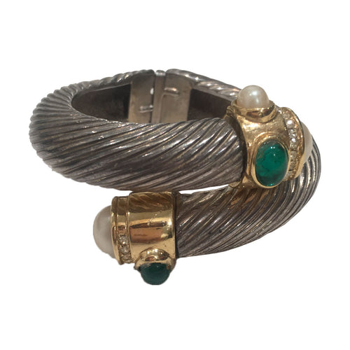 Vintage Signed 'Givenchy' Clamper Cuff Bangle c.1960s
