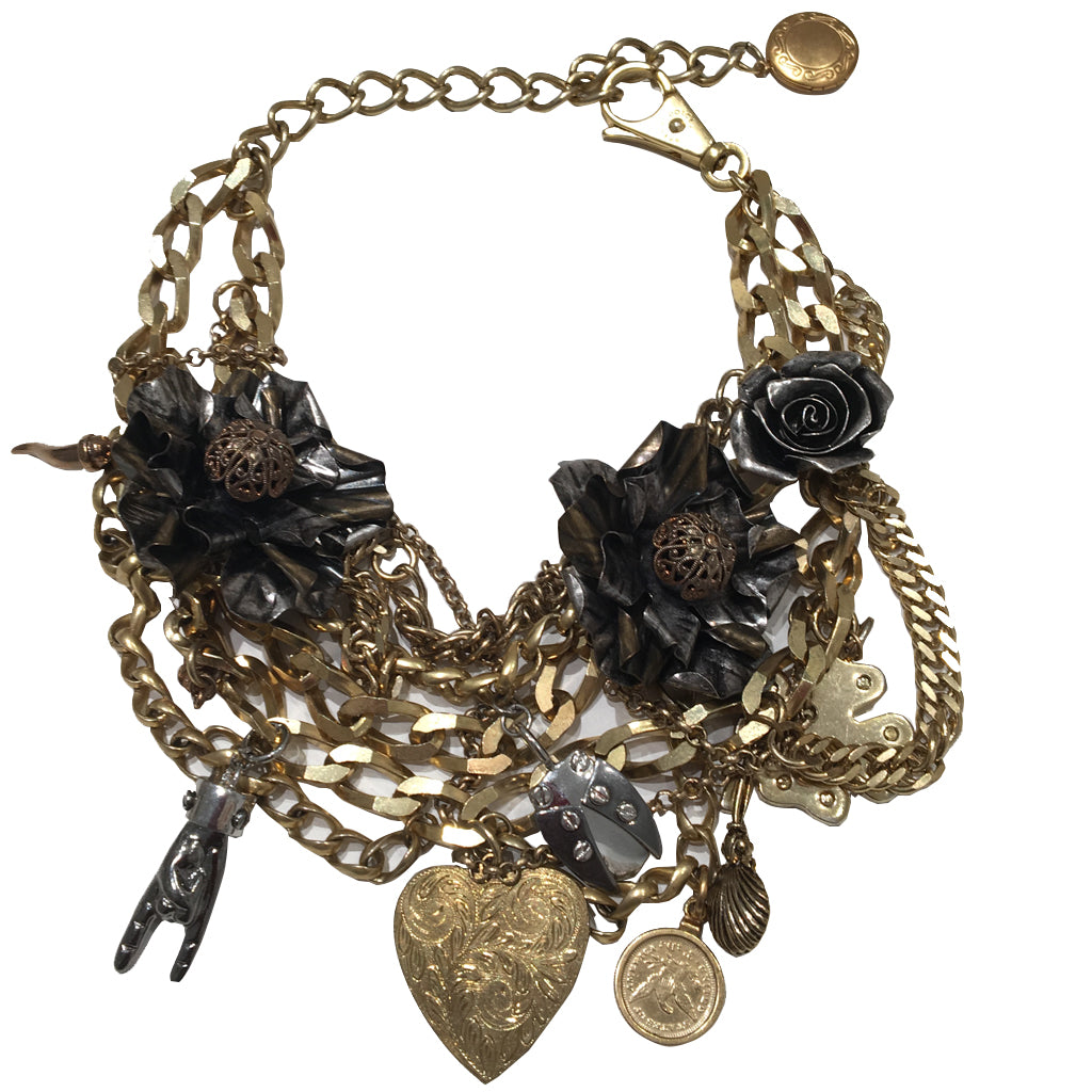 Signed 'Dolce & Gabbana' Vintage Multi Chain & Charm Necklace