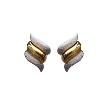 Load image into Gallery viewer, Christian Dior Signed Vintage Triple Swirl Gold & Silver Tone Earrings (Clip-on)