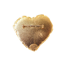 Load image into Gallery viewer, Christian Lacroix Signed Vintage Gold Tone Large Heart Brooch