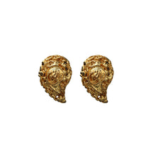 Load image into Gallery viewer, Signed Vintage Christian Lacroix Comma Gold Tone Earrings (Clip-On) c.1980s