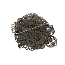 Load image into Gallery viewer, Giorgio Armani Gunmetal Floral Boquet Vintage Brooch c.1990s