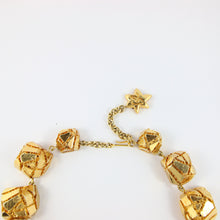Load image into Gallery viewer, Unique Vintage Signed 'Christian Lacroix' Gold Plated Runway Piece with Carved Patterns