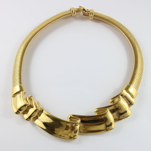 Vintage Signed Givenchy High Collar Statement Necklace