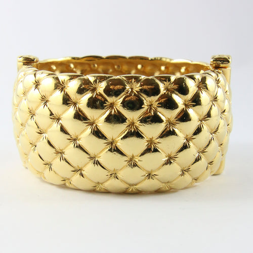 Chic Vintage Signed 'Goosens' Cuff Bangle c. 1980s
