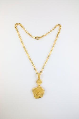 Vintage Yves Saint Laurent YSL Statement Gold Plated Necklace