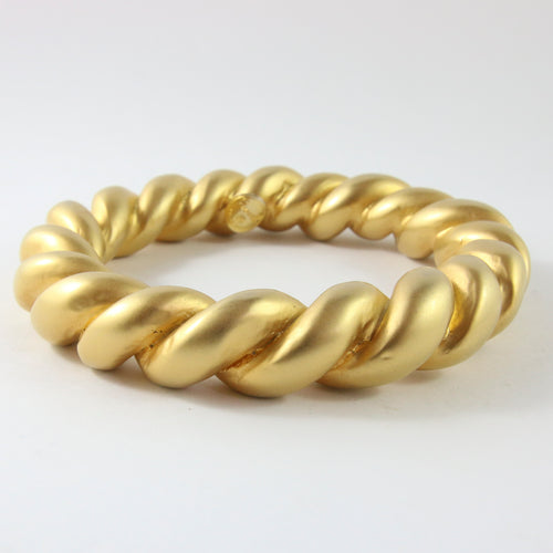 Vintage Chanel c.1970s Gold Plated Twist Bangle