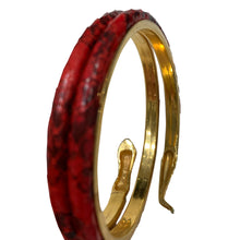 Load image into Gallery viewer, Vintage Red Textured Snake Armband c.1970s
