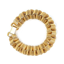 Load image into Gallery viewer, Vintage Gold-tone Link Bracelet c. 1950 (Also available as set with necklace)