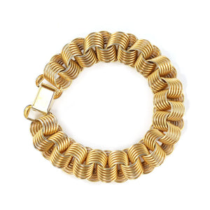 Vintage Gold-tone Link Bracelet c. 1950 (Also available as set with necklace)