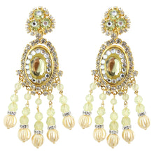 Load image into Gallery viewer, Lawrence VRBA Signed Large Statement Crystal Earrings - Faux Pearl