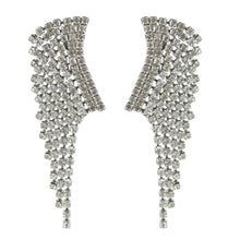 Load image into Gallery viewer, Vintage Dangling Waterfall Crystal Rhinestone Clip On Earrings c. 1950 (Clip-on)