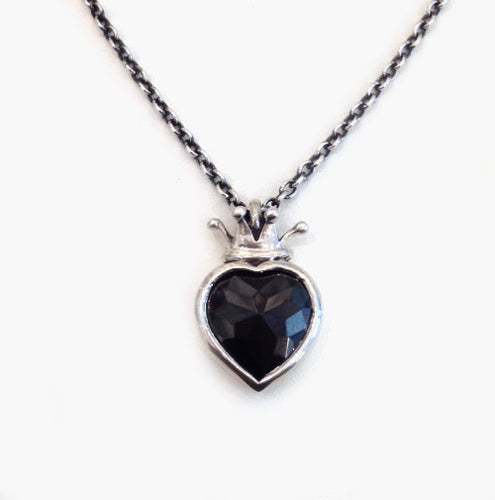 William Griffiths Sterling Silver Heart Design Necklace