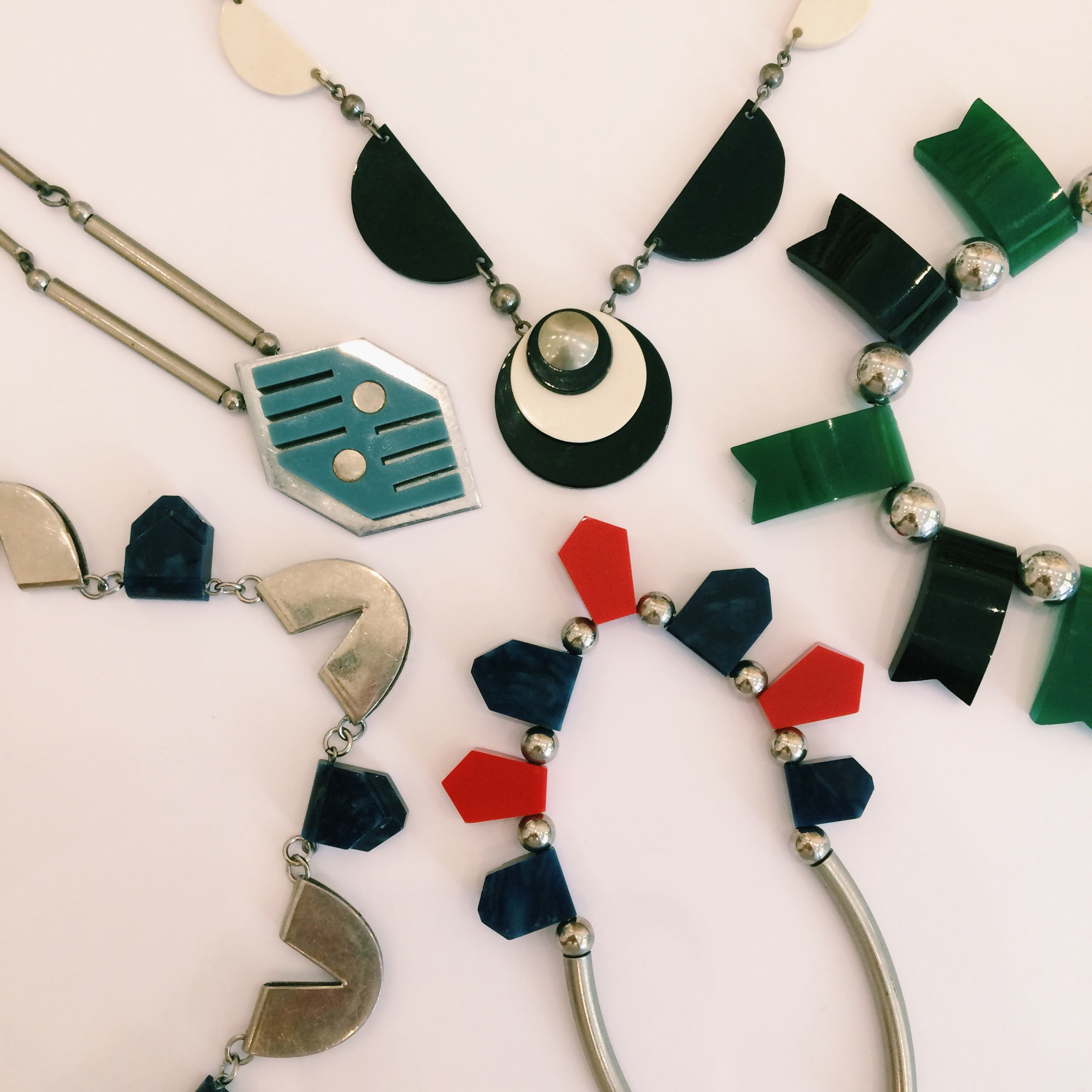 A selection of Jakob Bengel necklaces available to shop online Harlequin Market