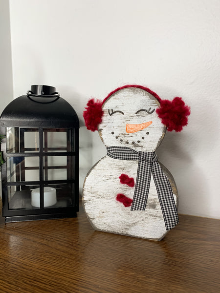 Snowmen Cutouts With Earmuffs