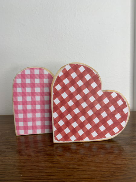 Small Plaid Hearts