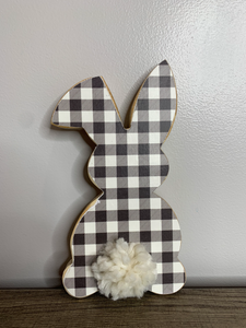 Medium Tall Bunny - Buffalo Plaid