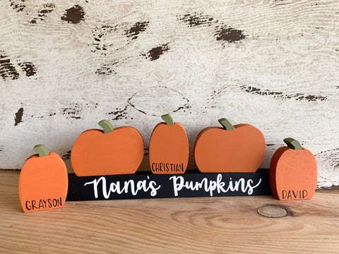 Customizable Pumpkin Family Set