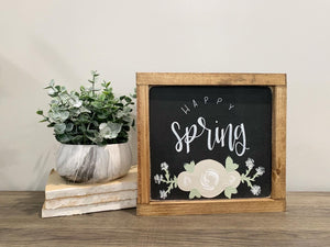 Happy Spring / Happy Summer - Reversible Sign