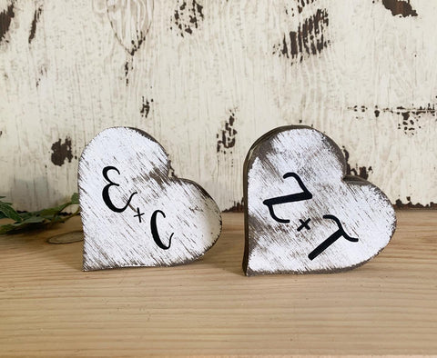 Personalized Heart Shelf Sitter