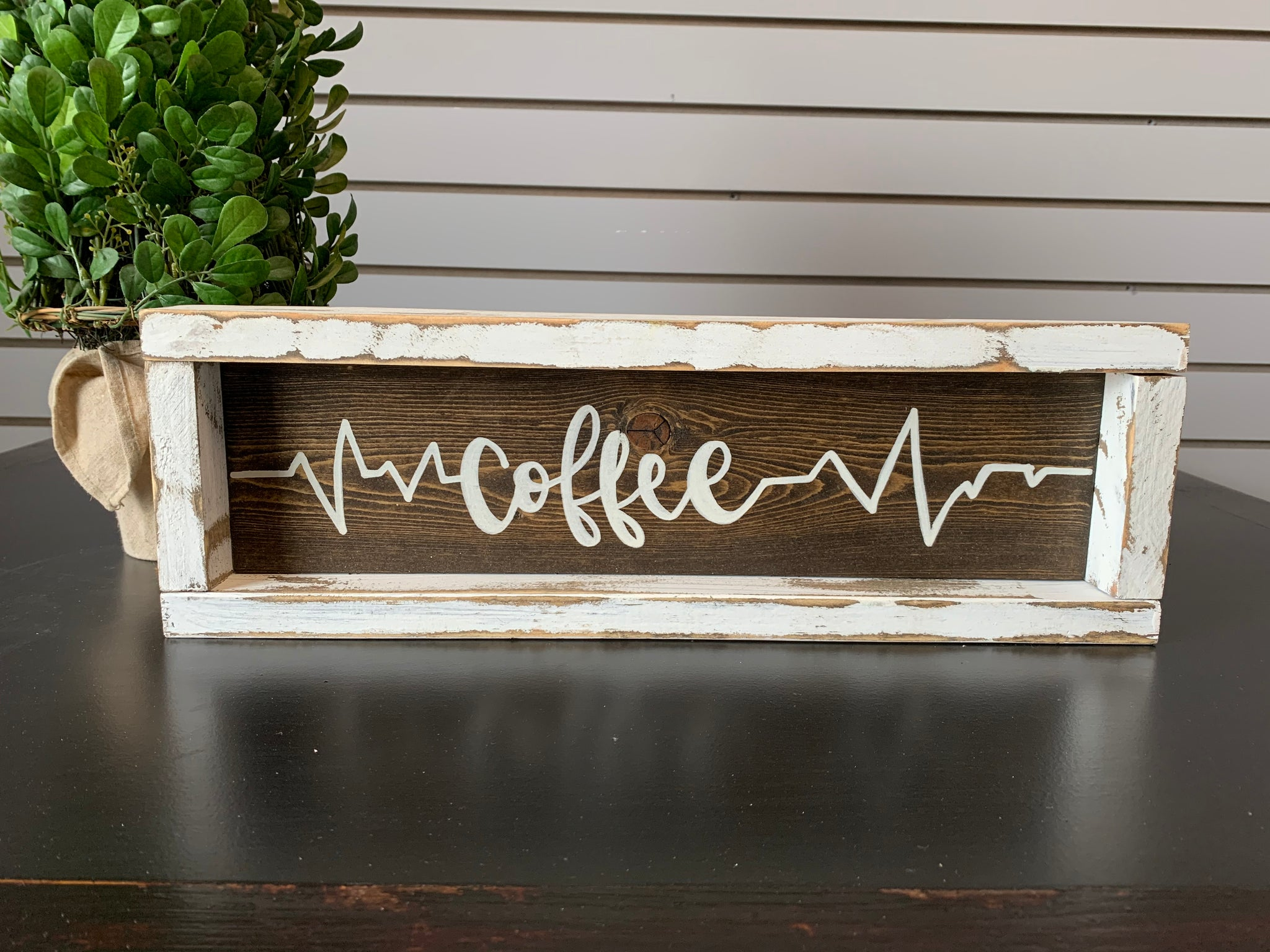 Coffee With Heartbeat Symbol