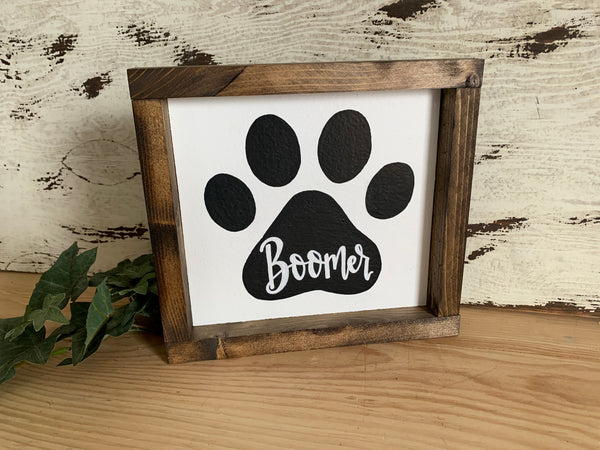 Dog Paw Print - Customizable