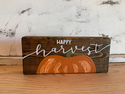 Happy Harvest / Merry and Bright Reversible Shelf-Sitter