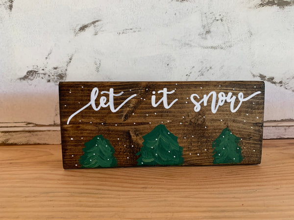 Happy Fall / Let It Snow Reversible Shelf-Sitter
