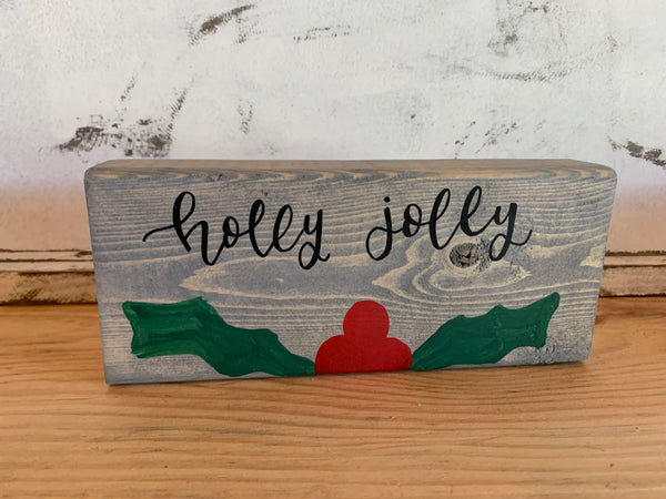 Hello Pumpkin / Holly Jolly Reversible Shelf-Sitter