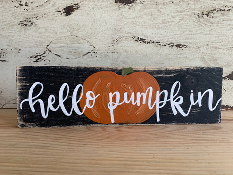 Hello Pumpkin / Merry & Bright Reversible Shelf-Sitter