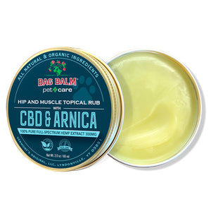 Pet Hip and Muscle Rub with Organic CBD & Arnica