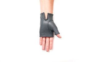 100% Italian Leather Fingerless Driving Gloves Sun Protection