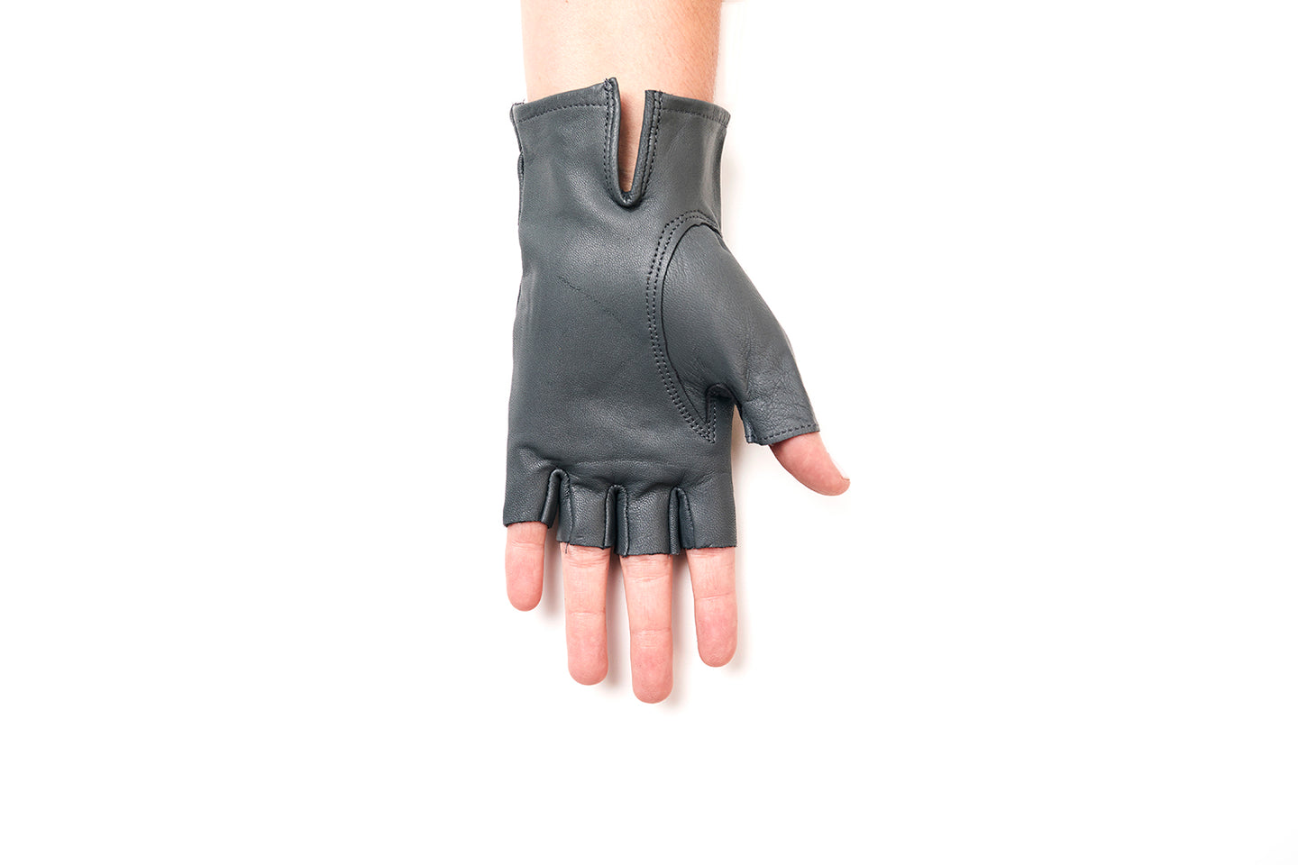 100% Italian Leather Half Finger Driving Gloves Sun Protection