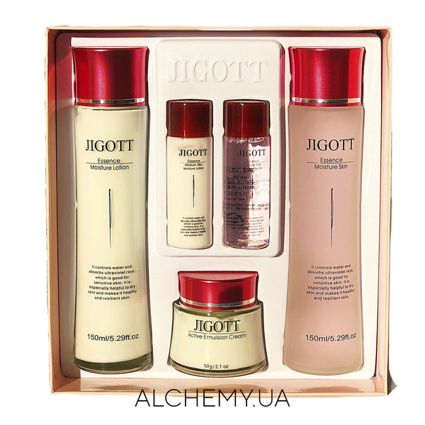 Набор уходовой косметики JIGOTT Essence Moisture Skin Care 3 Set Alchemy.com.ua