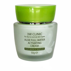 Увлажняющий крем с алоэ 3W Clinic Aloe Full Water Activating cream 50g